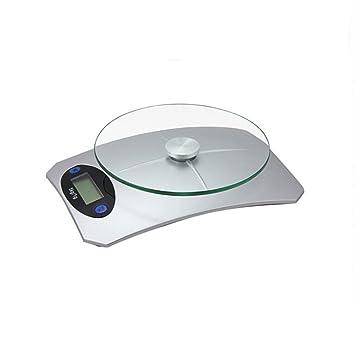 LLVV Balanza De Cocina Digital-Balanzas De Cocina Electrónicas De Alta Precisión Para Alimentos Balanzas De Comida De Plástico ABS + 4MM De Vidrio Templado ...