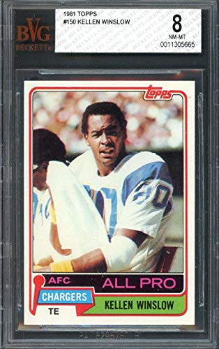 1981 topps #150 KELLEN WINSLOW san diego chargers rookie card BGS 8 Graded Card