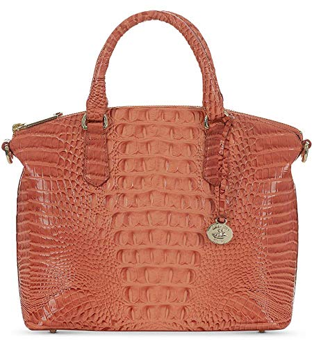 Brahmin Duxbury Satchel Croco Emb Leather Poppy Melbourne
