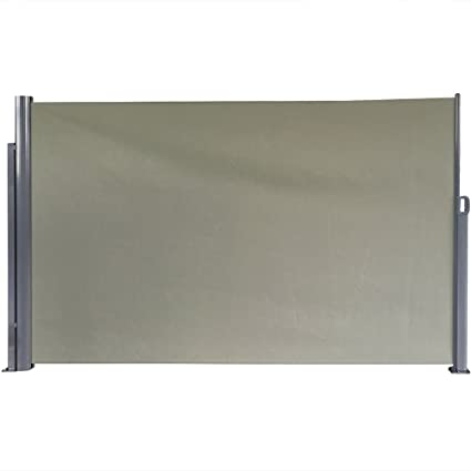 Retractable Outdoor Privacy Screen.Sunnydaze Patio Retractable Privacy Wall Outdoor Folding Screen Divider With Steel Support Pole 10 X 6 Feet Grey