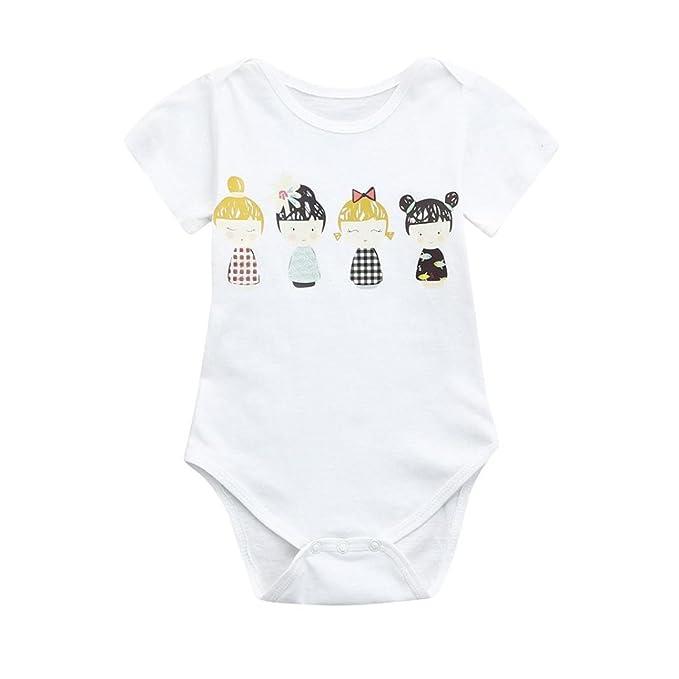 ZARLLE Bebé Mono Ropa Bebé Verano ReciéN Nacido Bebé Unisex Floral ImpresióN Sin Mangas Mono Bebé