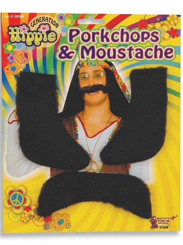 Forum Novelties 62049 Hippie Chops and Moustache Party Supplies, One Size -