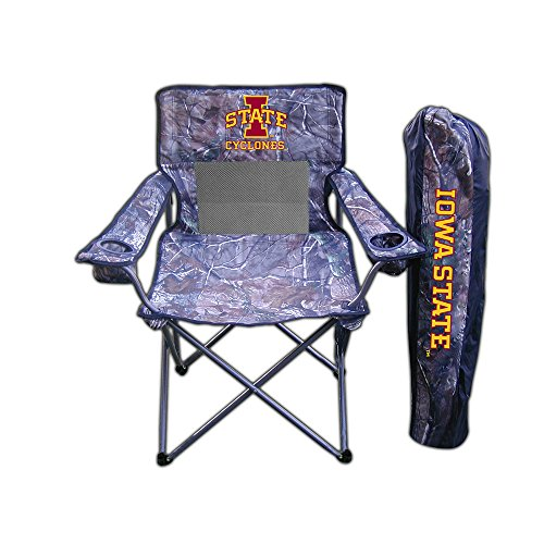 Rivalry Distributing Iowa State Cyclones Ncaa Ultimate Real Tree Camo Adult Tailgate Chair