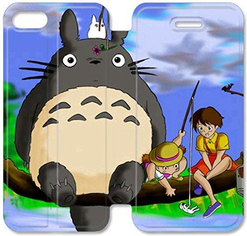 Flip étui en cuir PU Stand pour Coque iPhone 5 5S, bricolage 5 5S étui de téléphone cellulaire de Nice Totoro Dekstop Contexte Q7R6TF étui en cuir pas cher Coque iPhone