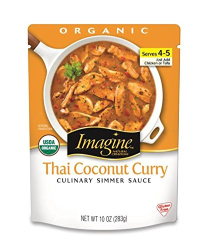 Imagine Culinary Organic Simmer Sauce, Thai Coconut Curry, 10 oz. (Pack of 6)