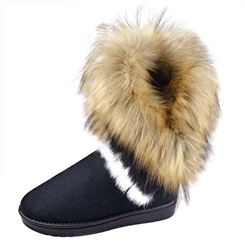 marrone col Donna Donna Stivali Neve Snow Classico Juleya Autunno Boots tacco Scarpe Inverno awqBHCAH