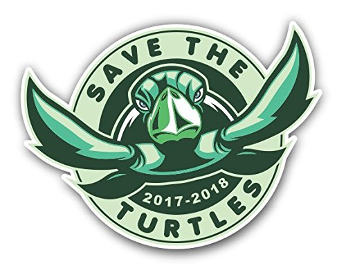 Save the Turtles Vinyl Decal Bumper Sticker for Car Truck La