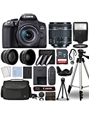 $984 » Canon EOS 850D / Rebel T8i Digital SLR Camera Body w/Canon EF-S 18-55mm f/4-5.6 is STM Lens 3 Lens DSLR Kit Bundled with Complete Accessory Bundle + 64GB + Flash + Case & More - International Model