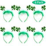 #6: Joyin Toy 6 Pack St. Patrick's Day Green Shamrock Clover Headbands/Top Hat Saint Patrick's Costume Accessories Party Favors Decorations