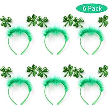Narwhal Novelties St Patricks Day Shamrock Green Necklace Assortment 12-Pack