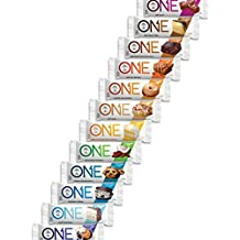ONE Protein Bar, 12 Flavor Super Variety Pack, 20g Protein, 1g Sugar, 12-Pack