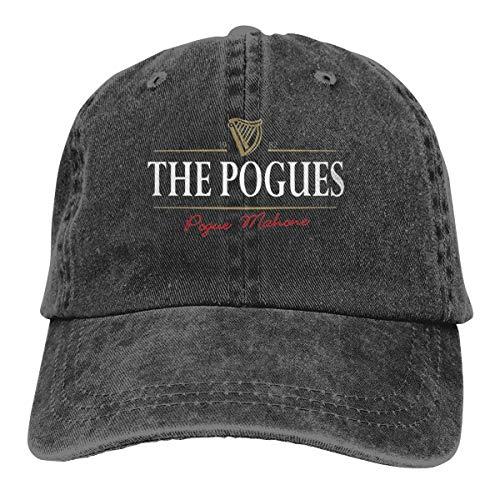 Nasibi The-Pogues-Generic Vintage Washed Cotton Adjustable Baseball Cap Summer Hat Men Women Black