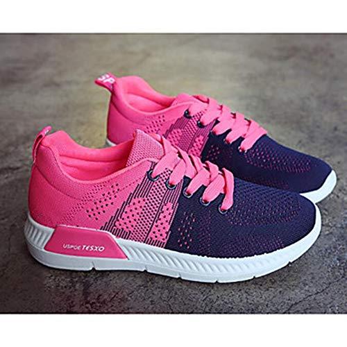 EU39 Nero Primavera Blu Scarpe US8 Comoda Sneakers Autunno Grigio UK6 TTSHOES Blue Tulle Piatto CN39 Per Donna AqIxwzzR6