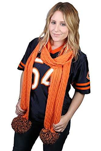 Game Day (College High School) CC Spirit Pom Scarf - Orange & (Best College Mascot Costumes)