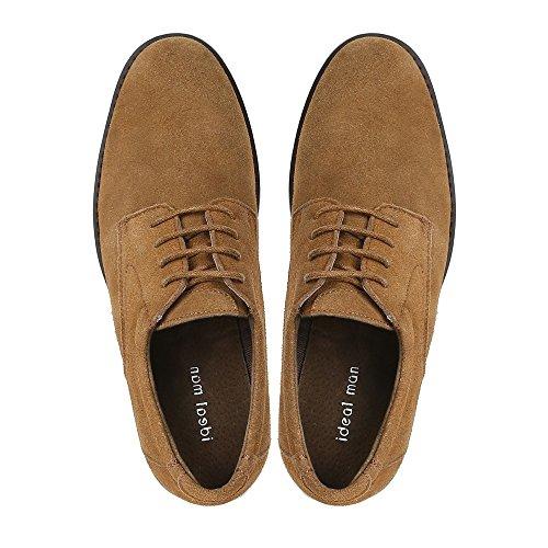 Ideal Shoes Schuhe De Ville Herren Leder Effekt Wildleder dael Camel