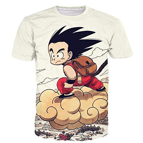 Johoproce Summer Unisex Dragon Ball Goku Short Sleeve T-Shirts Creative 3D Print Tee (JX002,XL) ()