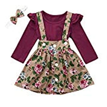 Baby Girls Cotton Floral Dress Top Blouse Age 18m 6 Years Old