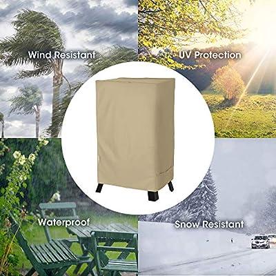 UNICOOK Heavy Duty Waterproof Electric Smoker Cover 30 Inch & 40 Inch, Desert Sand