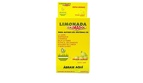 Amazon.com: Calmadol Lime Pain Reliever 100 Envelopes - Calmante en Sobres Sabor Limon (Pack of 1): Health & Personal Care
