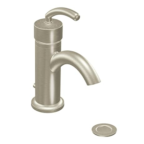 Moen S6500BN Icon Single-Handle Lavatory Faucett with Drain ...