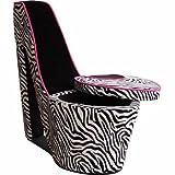 ORE International High Heel Storage Chair (White/Black) - Best Reviews Guide