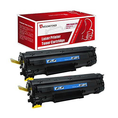 Awesometoner© 2 Pack Compatible Canon 126 Black Toner Cartridge for (3483B001)