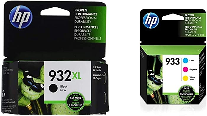 HP 932XL | Ink Cartridge | Black | CN053AN & 933 | 3 Ink Cartridges | Cyan, Magenta, Yellow | CN058AN, CN059AN,CN060AN