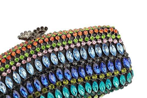 Yilongsheng Ladies Fête Embrayage Sacs avec cristaux (Multicolore)