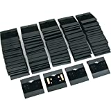 100 Black Earring Cards Pads Post Displays 2 by FindingKing