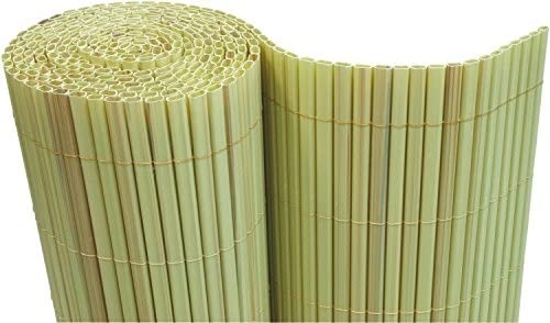 – Estera de PVC (100 x 500 cm Wind Protector para balcones Valla de jardín (bambú – Tubos: Amazon.es: Jardín