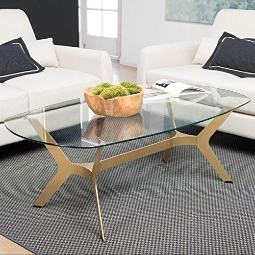 Oval Gold Design (Studio Designs Home 71011 Archtech Coffee Table)