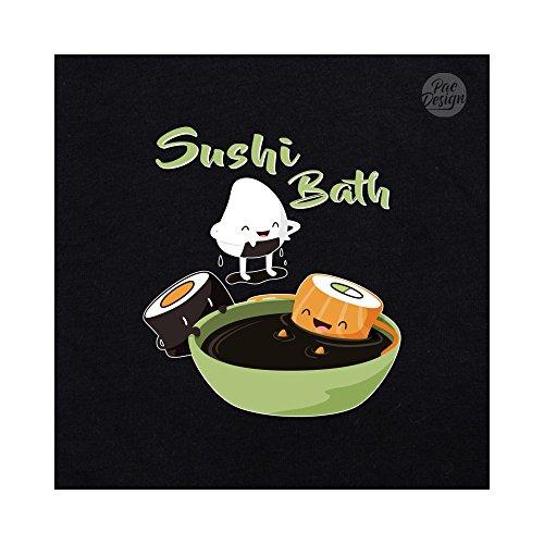 Maki Maki Maki Ne0374a PacDesign Bath Black Nene Ironic Ironic Ironic Donna Sushi Nigiri Felpa Foodfunny Graphic vHxqIR4