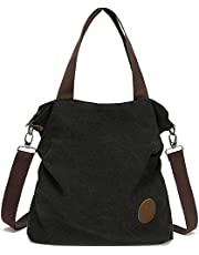 Myhozee Borsa Donna Tracolla,Borse Mano Donna Borse a Spalla in Tela Borsetta Vintage Shopper Messenger Bag Multifunzione per Shopping Scuola Viaggio