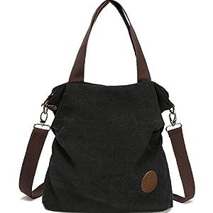 Myhozee Borsa Donna Tracolla,Borse Mano Donna Borse a Spalla in Tela Borsetta Vintage Shopper Messenger Bag… 10
