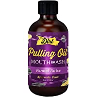 The Dirt Gluten Free Oil Pulling Mouthwash - Dental Tonic with Essential Oils for Bad Breath, Non-GMO (Fennel Anise, 4…