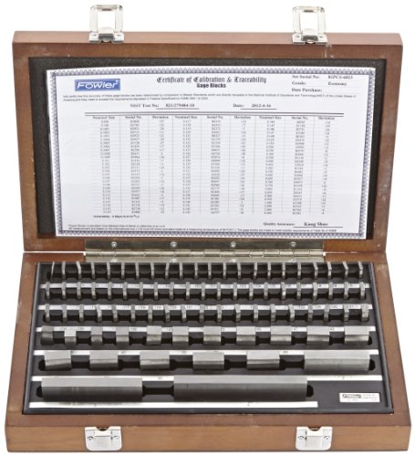 Fowler 53-672-081 Steel Shop-Blox Rectangular Economy Gage Block Set, 81 Piece