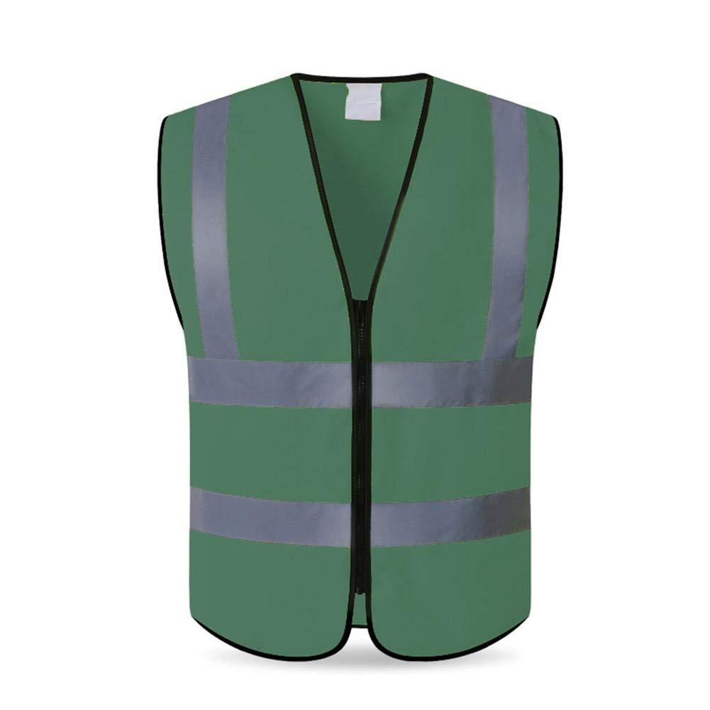 G-wukeer Chaleco Reflectante, conducción Nocturna al Aire Libre Ejecución de Alta Visibilidad Chaleco de Seguridad Chaqueta Reflectante Trabajadores de la construcción en el Lugar de Trabajo