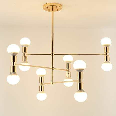 Lámpara de araña Sputnik de 12 luces, iluminación colgante ...