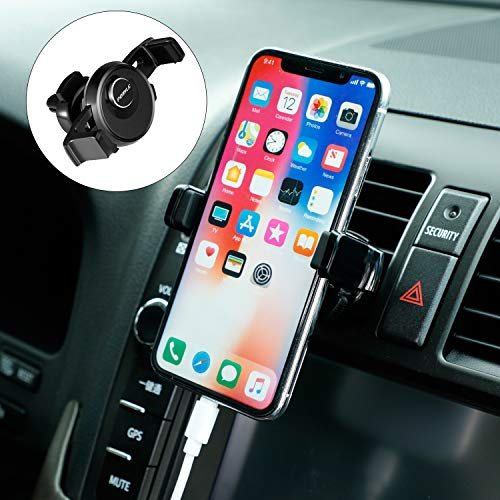 Car Cell Phone Mount Holder Air Vent Phone Holder for Car Universal for Smartphone Samsung Car Vent Phone Holder Fits All Smartphones from 3.5 to 5.5 Inches Wide