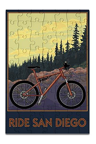 Ride San Diego - Mountain Bike Scene (8x12 Premium Acrylic Puzzle, 63 Pieces)
