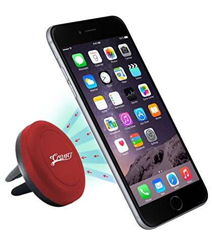 Car Mount, CLWHJ® Universal Air Vent Magnetic Car Mount Holder,w/ Magnetic 1 Step Mounting Technology - Best Cell Phone Holder for Your Car - Compatible with all Phones (Red)