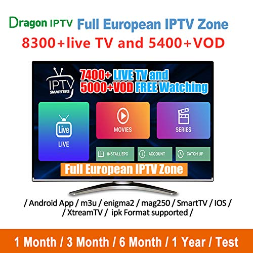 USA IPTV Subscription with 8300 Live Channels US/UK/Canadian/Spanish/Sport 600 US Channels 5400 Free Movies for Smart TV Box Android Enigma2 M3u 6 Months Service