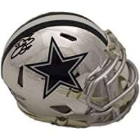 $363 » Emmitt Smith Autographed/Signed Dallas Cowboys Chrome Mini Helmet BAS 22558 - Autographed NFL Mini Helmets
