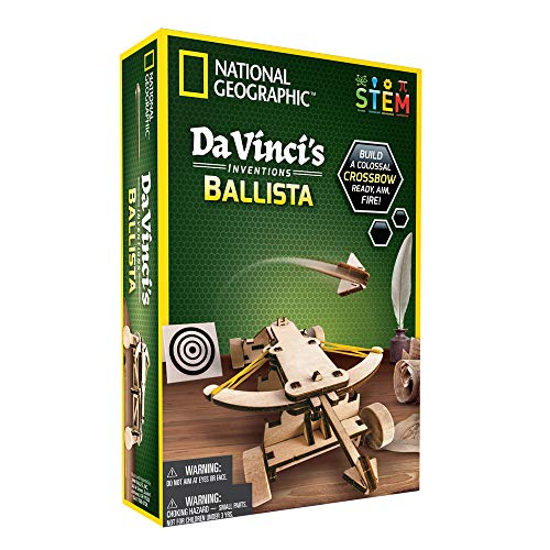 NATIONAL GEOGRAPHIC Da Vincis DIY Science & Engineering Construction Kit- Build Your Own Wooden Model of The Original Ballista