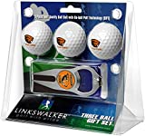 LinksWalker NCAA Oregon State Beavers - 3 Ball Gift Pack with Hat Trick Divot Tool