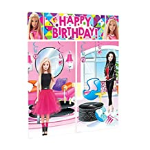 Shindigz Lightweight Barbie Sparkle Scene Setter Wall Decor Kit