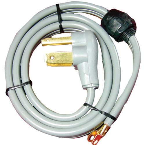 Price comparison product image Certified Appliance 90-1020QC 3-Wire Quick-connect Dryer Cord, 30 Amps, 4-foot (Closed Eyelet)