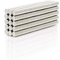 مغناطيسات النيوديميوم (معدن من عناصر الأرض النادرة) من بيستبيكس، مجموعة مكونة من 50 قطعة بشكل قرص قياس 4 ملم * 2 ملم كي…