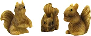 TG,LLC 1:12 Scale Squirrel Figurines Fairy Garden Accessory Outdoor Dollhouse Landscape Supply