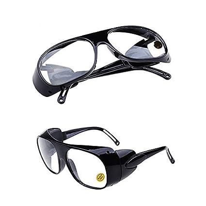 QPX Gafas de Soldador Gafas de Trabajo Gafas de protección láser (Blanco)